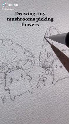 Art Drawings Sketches Simple, Pencil Art Drawings, Sketches Tutorial, Art Inspiration Drawing, Cartoon Art Styles, Art Sketchbook, Art Tutorials, Cute Art, Indie Art