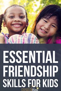 Teach kids friendship skills with these 8 essential friendship skills for kids! These activities are perfect for small group counseling or at home play! Teaching Friendship, Friendship Lessons, Friendship Activities, Feelings Activities, Kindness Activities, Social Skills Activities, Friendship Group, Elementary Counseling, School Counselor