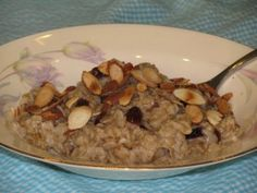 Cherry Almond Oatmeal. Make your food work for you with METABOLISM BOOSTING meals. Get FREE RECIPES: http://tonetiki.com/category/metabolism-boosting-meals/ #LoseWeightByEating