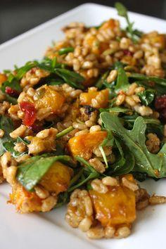 Warm pumpkin and pearl barley salad   Vegenista