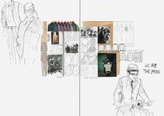 Fashion Portfolio Layout, Fashion Design Sketchbook, Fashion Sketches, Portfolio Ideas, Textiles Sketchbook, Sketchbook Layout, Artist Sketchbook, Fashion Collage, Fashion Illustration Collage