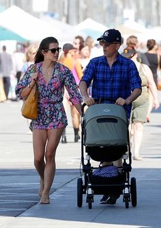 Charlotte, Gad and Raphaël in Venice, California (love her outfit!)