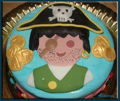 horneando deseos: tarta playmobil pirata con plantilla.