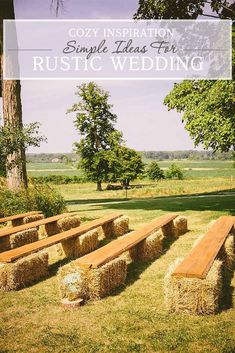 2019 Top 14 Must See Rustic Wedding Ideas for a Memorable Big Day---Country farm wedding ceremony with hay chairs, fall wedding vibe, outdoor wedding ideas Farm Wedding, Wedding Bells, Dream Wedding, Wedding Backyard, Wedding Rustic, Wedding Country, Wedding Flowers, Spring Wedding, Wedding Church