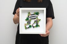Unique Framed Quilling Wall Art Musical Note Music Lover Gift Handmade Paper Art Green Grey Home Decor Office Decor Wall Decor Elegant Modern Minimalist Art Etsy by PaperParadisePL