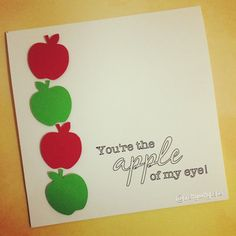 Just Because Card  Apple of My Eye by PrettyWittyPaper on Etsy