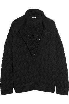 a99148aff7 Miu Miu - Oversized hand-knitted cardigan