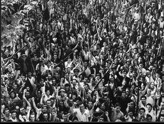 Milicianos/as de Catalunya saliendo para el frente de Aragón, 29 de agosto de 1936
