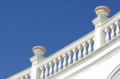 baluster railing - Google Search Neoclassical Architecture, Greek House, Stone Columns, Crafts Beautiful, Cast Stone, Stone Veneer, Natural Stones, Building, Brick Houses