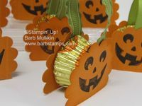 Little Scallop Pumpkin Treats - Barbstamps!! Barb Mullikin Stampin' Up! Demonstrator