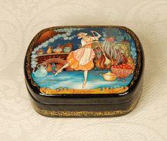 $70 Dance-and-Dream-Cinderella-ballet-dancer-russian-hand-made-lacquer-box-Russia-folk