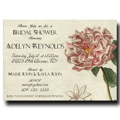 Bridal Shower Invitation - Vintage Flower (16)