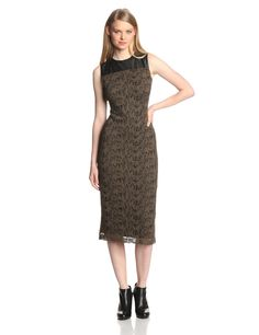 Sleeveless Knee Length Lace Dress by Marc New York by Andrew Marc