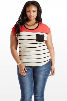 Red Me Like A Book Striped Top