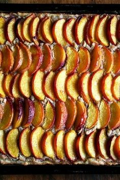 This peach frangipane tart emerges from the oven, slices of fruit glistening, frangipane bubbling through the crevices. Perfect for a crowd. Plum Frangipane Tart, Just Desserts, Dessert Recipes, Tart Recipes, Bread Recipes, Peach Blueberry Cobbler, French Apple Tart, Tart Dough, Pastry Shells