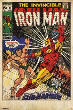 Iron Man vs. Sub Mariner Comic Poster