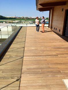Exterpark #hardwood Cumaru #decking using Speed clip in Slovakia.   www.exteriordecking.co.uk