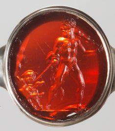 Kunsthistorisches Museum Wien, Hades, Ancient Jewelry, Greek Gods, Carnelian, Gems, Carving, Roman, Rings