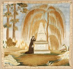 Embroidered Mourning Picture 1808