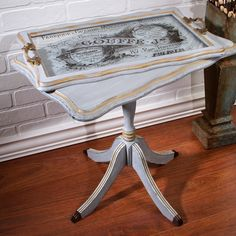 French Butler End Table