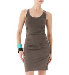 Cut to compliment all your curves, our Scoop Neck Shirred Dress comes in a relaxed fit with figure flattering shirring at the sides