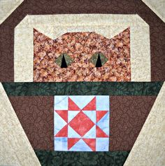 Star Cat Quilt Block Pattern by CurlicueCreations on Etsy, $3.00