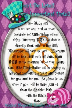 Disney Donna Kay: Alice In Wonderland Baby Shower - Magical Blogorail Special Edition