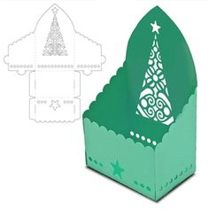 Silhouette Design Store - View Design #14600: box christmas tree