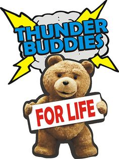 """""""Thunder Buddies For Life """"TED"""" """" by OBEY ZOMBIE 