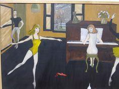 Clase de danza, óleo sobre tela, de Pacco.
