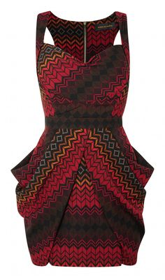 love the pattern, colors and that design is genius XD  STRUCTURED TULIP DRESS - Dresses