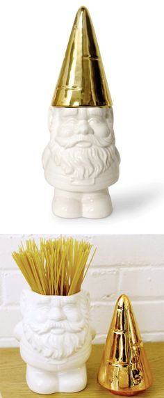 The gnomes are out of the garden and into the kitsch-en! // Gnome Container designed by imm Living #productdesign