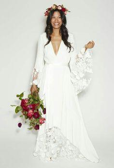 Vestido novia bohemio chic
