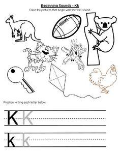 Perfect For Preschool Kindergarten Or Home School Practice The Letter K