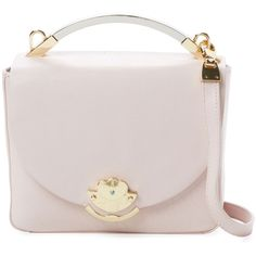 Cynthia Rowley Women's Gemma Leather Satchel - Pink ($99) ❤ liked on Polyvore featuring bags, handbags, pink, leather satchel purse, genuine leather handbags, leather cross body handbags, leather crossbody purse and satchel handbags