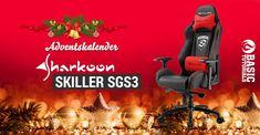 #Adventskalender: Sharkoon SKILLER SGS3 Gaming-Stuhl #Gewinnspiel Giveaways, Gaming, Happy, Chair, Games, World, Projects, Christmas, Homes