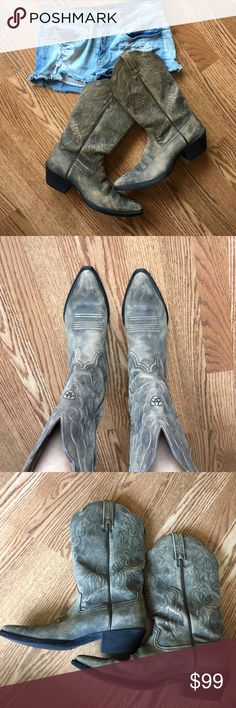 Ariat cowgirl boots Style # 15729 adorable! Worn only a handfull of times- great condition! Ariat Shoes