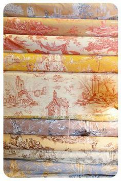 Toile Knit Fabric in Home Decor Outlets Raleigh Nc this Home Decor Accents Near Me along with Comfort Height Toilets French Country Cottage, French Country Style, French Decor, French Country Decorating, Chinoiserie, Textiles, Toile Design, French Fabric, Linens And Lace