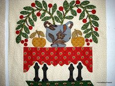 Moose Bay Muses: The Bird of Paradise Quilt   ... love the tablecloth, and how she redid the legs