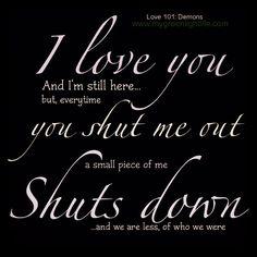 You shut down