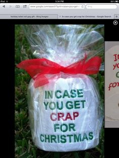 Love this. Could wrap in clear Christmas wrap and attach a gift tag.