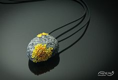 Inro - lichen on stone, made from polymer clay - 02/13 by Way of Clay.