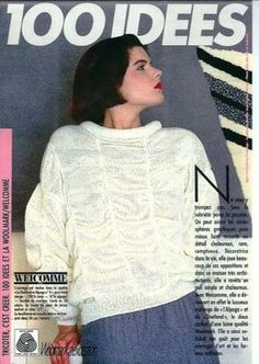 pull blanc welcome Couture, Free Pattern, Catalog, T Shirts For Women, Pullover, Knitting, Blog, Tops, Comme