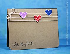 Hearts on Kraft (1) by AyanaP., love the simplicity