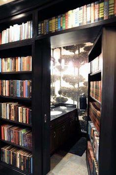 40 Ideas For Home Library Ideas Secret Passage Bookshelf Door Home Design, Home Library Design, Design Ideas, Library Ideas, Design Inspiration, Hidden Rooms, Small Rooms, Cozy Home Library, Library Wall