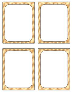 Blank Flash Card Templates | Printable Flash Cards | PDF Format ...