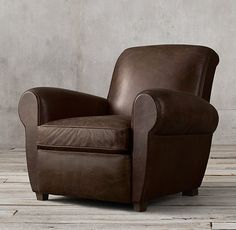 RHu0027s Parisian Leather Club Recliner:Inspired By An Original From Paris,  This Is The Perfectly Proportioned French Club Chair. The Sculpted, Domed  Back And ...