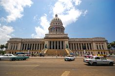 El Capitolio, or National Capitol Building in Havana, Cuba, was the seat of government in Cuba until after the Cuban Revolution in 1959, and is now home to the Cuban Academy of Sciences. Its design and name recall the United States Capitol in Washington, D.C., but it is only superficially similar. Completed in 1929, it was the tallest building in Havana until the 1950s and houses the world's third largest indoor statue.