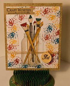 Time to Create: Paint brushes and grunge stamps