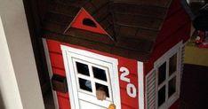 creditos:kendinyapsana Álbum 23-----------página Eu Amo Artesanato ----------------------------------------------... Cardboard Box Houses, Peppa Pig, Kids House, Preschool Activities, Crafts, Ideas, Cardboard Kids House, Diy Home, Box Houses